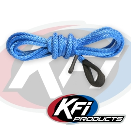 Synthetic Atv Winch 12 Foot Plow Cable Blue Kfi Atv