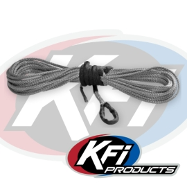 "1/4"" Synthetic 50' UTV Winch Cable (Smoke)"