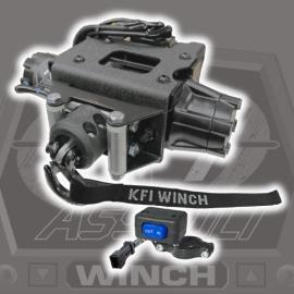 2500lb Steel Cable KFI Polaris ATV Plug-N-Play Winch Kit