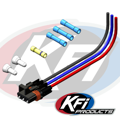 kfi pulse 3 pin wire harness kfi atv winch, mounts and accessories harley davidson wiring harness 101505 polaris wire 3 pin harness