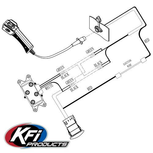 dash rocker switch kit kfi atv winch mounts and accessories rh kfiproducts com Trailer Wiring Diagram ATV Winch Wiring Diagram