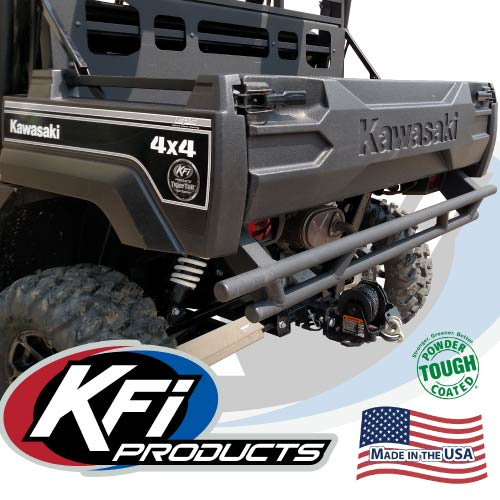 Kawasaki Mule Front Bumper : Kawasaki mule pro rear bumper kfi atv winch mounts and