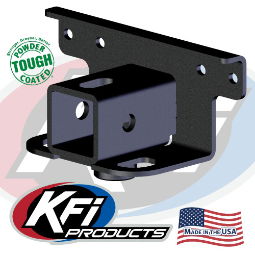 Yamaha grizzly and kodiak receiver hitch adapter kfi atv for Yamaha receiver accessories