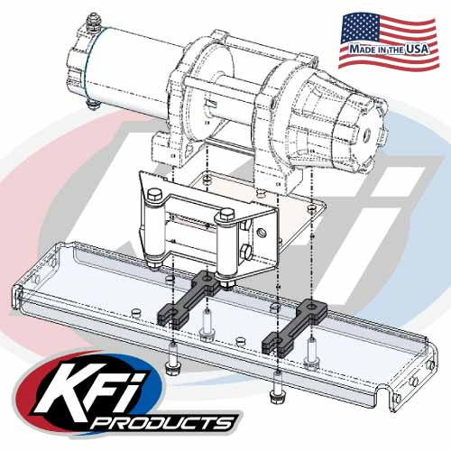 KFI Winch Mount #101805 for 2020 Kawasaki Teryx KRX 1000